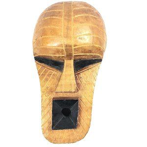 Vintage African Wood Tribal Mask Made in Ghana